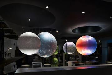 licht lichtdesign planeten leuchten lichter inneneinrichtung innenarchitektur