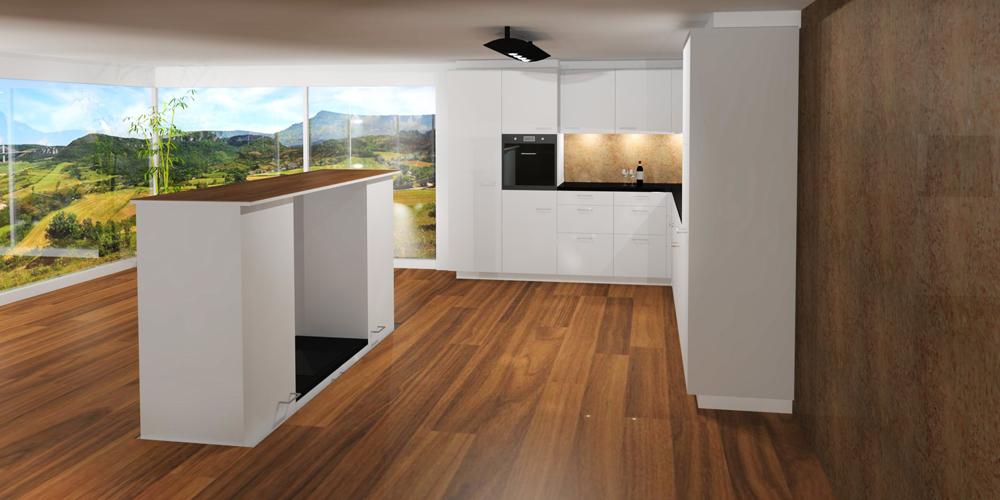 die versenkbare k che von adora design proud magazine. Black Bedroom Furniture Sets. Home Design Ideas