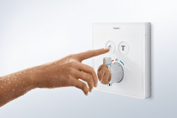 ShowerSelect: Wasserfluss einfach durch Knopfdruck an- und ausschalten