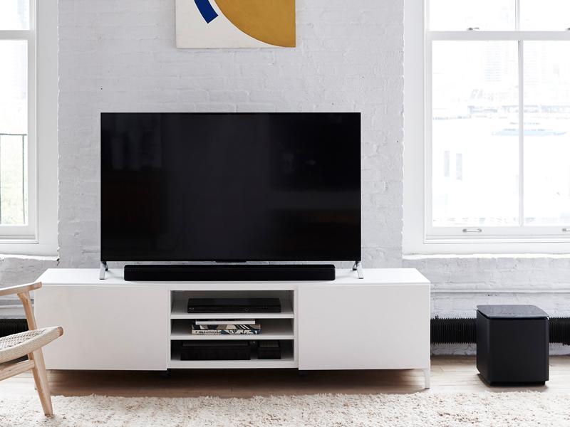 die bose soundtouch 300 soundbar f rs streamen von musik. Black Bedroom Furniture Sets. Home Design Ideas